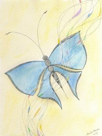 Blauer Falter